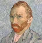 Vincent Van Gogh self portrat at the Musee D'Orsay