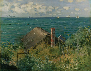 Claude Monet A Hut at Sainte-Adresse 1867 age 27
