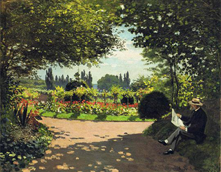 Claude Monet Adolphe Monet Reading in a Garden 1866 age 26