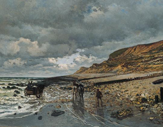 Claude Monet The Pointe de Heve at Low Tide