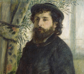 Claude Monet 1875 (age 35) by Pierre Auguste Renoir