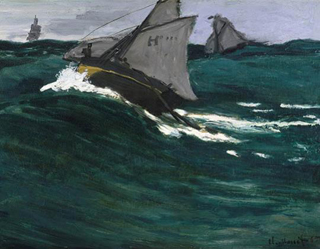 Claude Monet Green Wave 1866-67 age 27