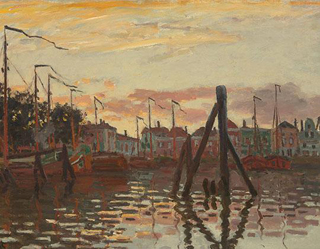 Claude Monet Houses by the Zaan at Zaandam 1871 age 31
