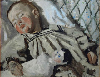 Claude Monet Jean Monet Sleeping 1868 age 28