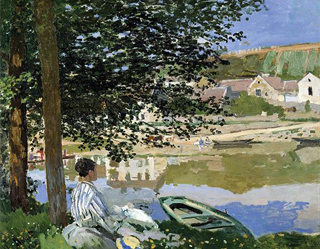 On the Bank of the Seine, Bennecourt 1868 age 28