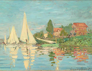 Claude Monet Regatta at Argenteuil 1872 age 32
