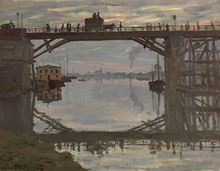 Claude Monet The Wooden Bridge 1872 age 32