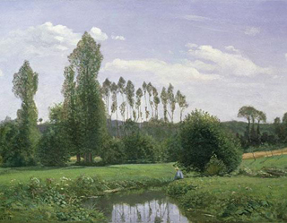 Claude Monet View  Near Rouelles 1858 age 18