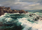 Joshua Meador Coastal Rocks and Crashing Waves Thumbnail