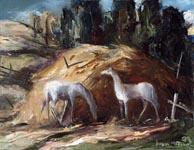 Joshua Meador Jack's Horses 14 x 18 Meador Family Collection