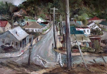 Joshua Meador Road to Town (Cambria) 24 x 34  Meador Family Collection