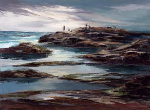 Joshua Meador Rock Fishing 20 x 27