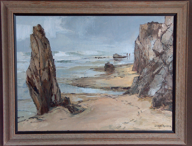 Joshua Meador Silvery Beach Carmel with frame