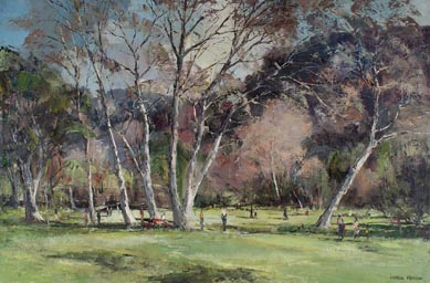 Joshua Meador Strolling in the Park 24 x 36  Meador family collection