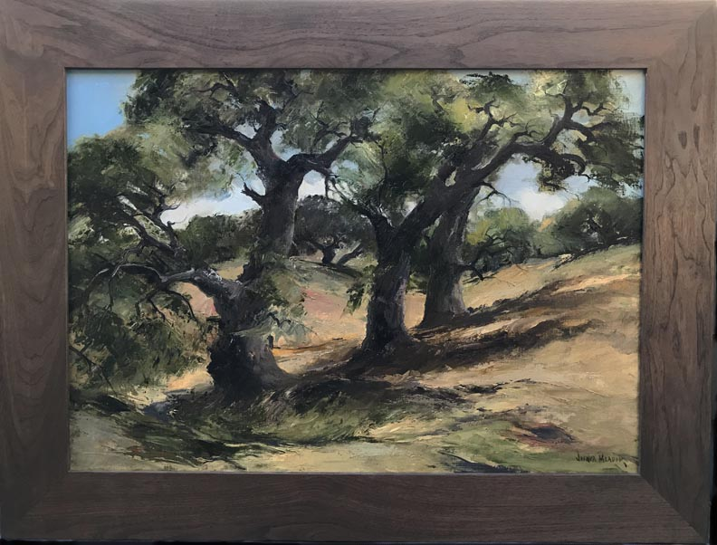 Joshua Meador The Three Sisters with walnut frame
