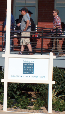 Visitors Entering the Disney Family Museum