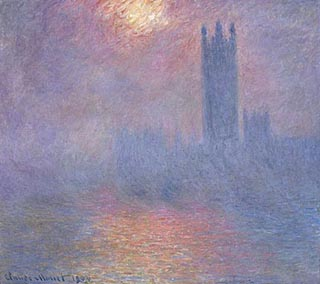 Claude Monet London Pariament Burning