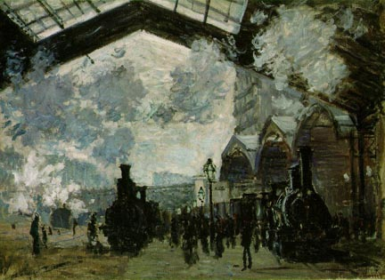 Claude Monet Saint Lazare Station