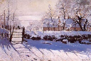 Claude Monet the Magpie 320