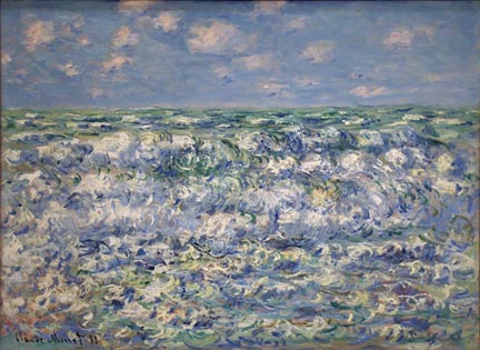 Claude Monet Waves Breaking 1881