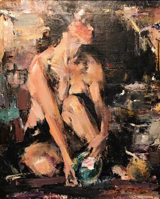 Portrait of Nude with a Shell, Nicolai Fechin