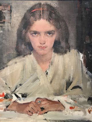Portrait of Eya in Judo Gi, Nicolai Fechin