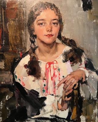 Portrait of Eya in Peasant Blouse, Nicolai Fechin