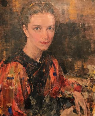 Portrait of Eya with a Cat, Nicolai Fechin