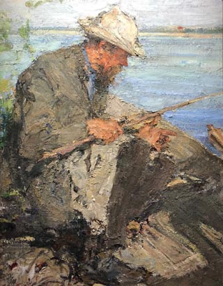 Portrait of Father Fishing, Nicolai Fechin