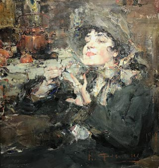 Portrait of Manicure Lady, Nicolai Fechin
