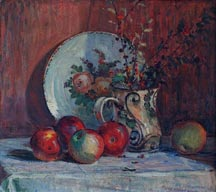 Peter Nielsen Still Life Apples Pitcher and Plate Midsized thumbnail
