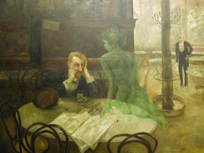 Viktor Oliva The Absinthe Drinker