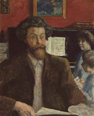 Pierre Bonnard Composer Claude Tessasse with his two sons