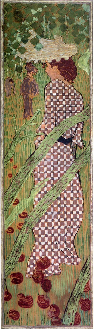 Woman in Checkered Dress, 1890-91 Pierre Bonnard, Musee d'Orsay