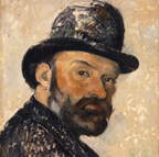 Paul Cezanne Self Portrait with Bowler