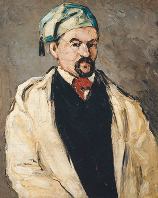 Paul Cezanne Uncle Dominique in Smock and Blue Cap, 1866