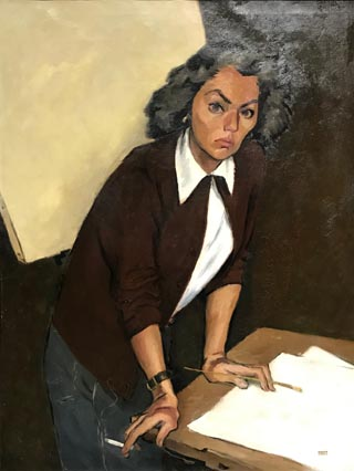 Marian Curtis, 1912-1972 The Empty Canvas, Self Portrait, c1945 Courtesy of the Marian Curtis Manning family