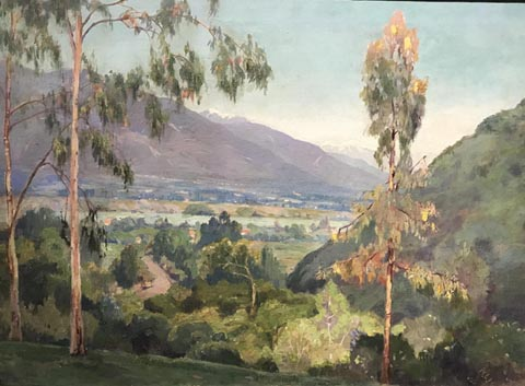Nellie Lott Hoffman, 1861-1944 Untitled, View from the Arroyo Seco toward the San Gabriel Mountains, c 1924 Private Collection