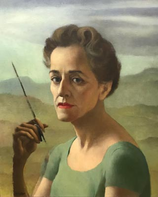 Ruth Miller Kempster, 1904-1978 Self Portrait, unfinished , c1950 Courtesy of Constance Crawford