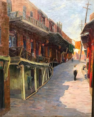 Hazel Coldwell Clark Pletsch, 1891-1967 Old Chinatown, Los Angeles, CA, c1928 Private Collection