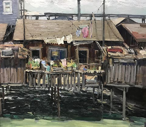 Rose Schneider, 1895-1976 Untitled, Fishing Shack, San Diego Harbor, CA, c1935 Collection of Moe Parniani