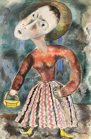 Lucretia Le Bourgeois Van Horn, 1882-1970 Woman with Purse, c1938 Private Collection