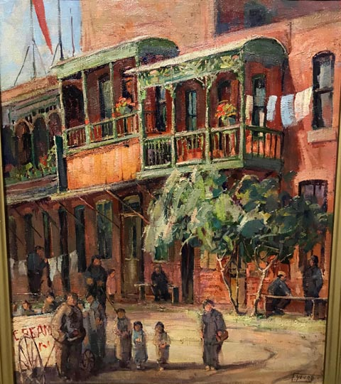 Florence Young, 1872-1974 Chinatown scene with children, c1932 Pomona College Museum of Art