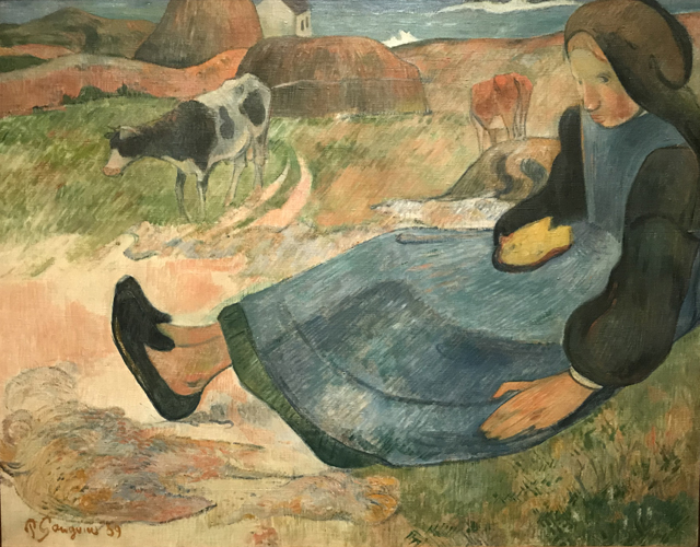 Seated Breton Girl, 1889, Ny Carlsberg Glllypothek, Brittany, a coastal region west of Paris
