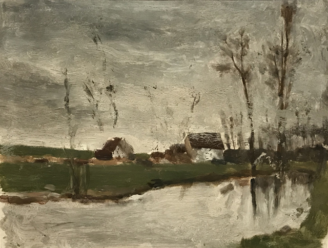 Houses near the Water, 1874, Paris, or possibly Saint-Cloud, Ny Carlsberg Glllypothek