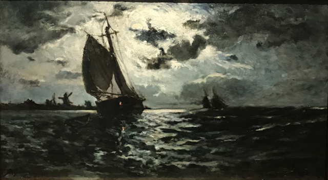 Sailing Vessel in the Moonlight, 1878, Paris Ny Carlsberg Glllypothek