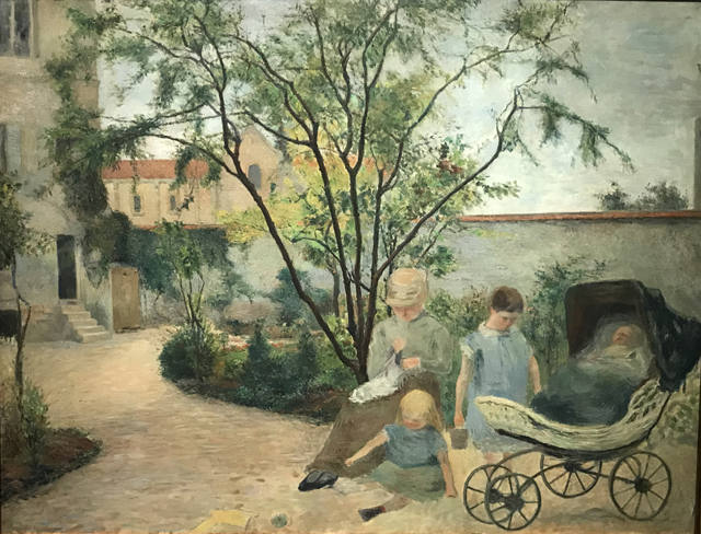 The Painter's Family in the Garden, 1881, Rue Carcel, Paris Ny Carlsberg Glllypothek