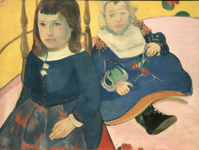 Two Children, 1889, done in Paris or Brittany Ny Carlsberg Glllypothek