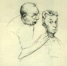 Norman Rockwell At the Barber