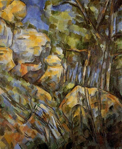 Paul Cezanne 1839-1906, Rocks above Chateau Noir, c 1904